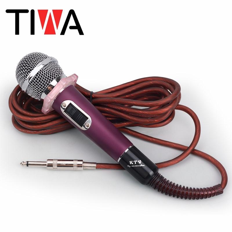 专业有线话筒动圈麦KTV专用卡拉OK音响家用唱歌神器有线麦克风