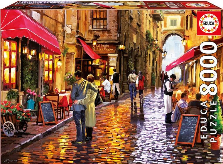 现货包邮 西班牙 EDUCA 进口拼图 16788 浪漫咖啡街道 8000片