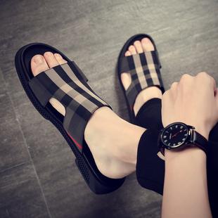 室外凉拖男士高级拖鞋夏季凉鞋外穿潮流2020新款休闲沙滩潮牌网红