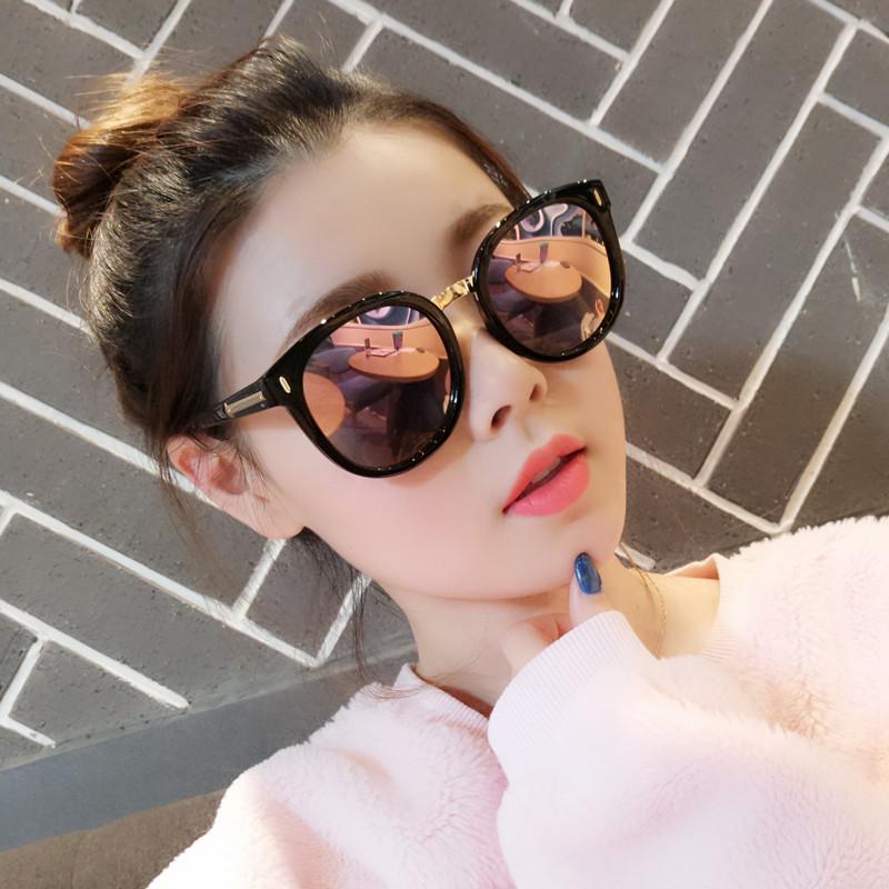 2020网红新款gm墨镜防紫外线太阳镜 女ins韩版潮明星同款街拍圆脸
