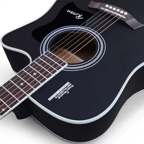 卢森正品吉他民谣吉他40寸41寸木吉他初学者入门吉它学生男女乐器