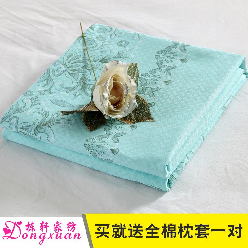 栋轩直角丝光纯棉老式国民床单斜纹老粗布全棉加厚单件双人被单