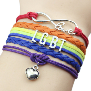 Gay Pride LGBT Rainbow Love Friendship Gift Wedding Bracelet