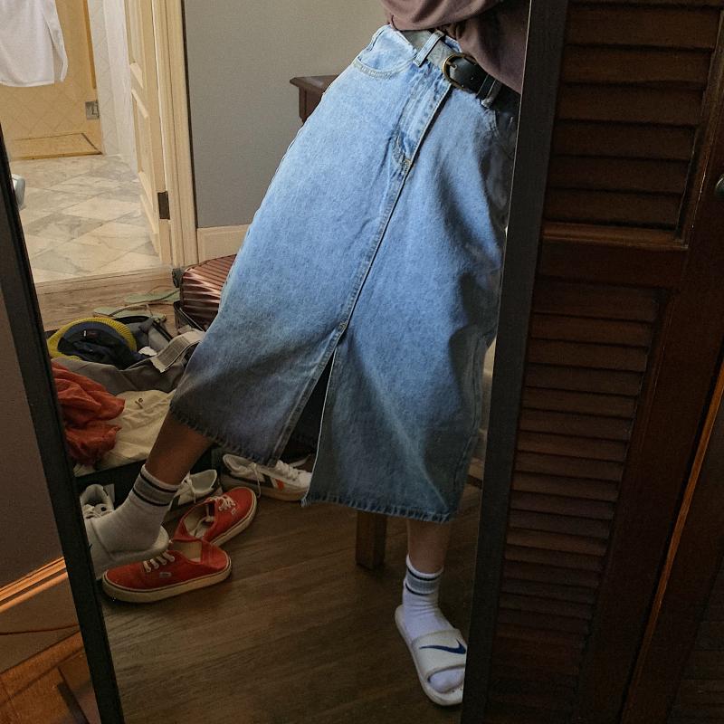 感直筒裤复古九分学生裤子