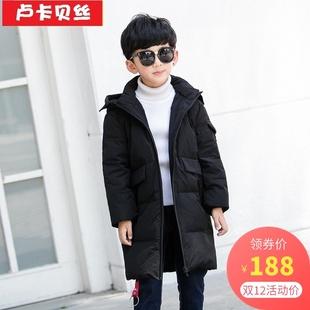 男童羽绒服2018冬季新款韩版洋气中大童6-12-15岁中长款儿童外套