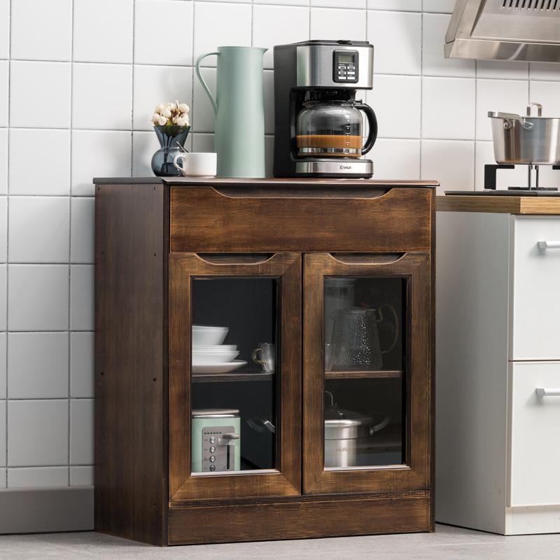 美筑丽家储物柜餐边柜酒柜小户型餐桌边柜现代简约客厅实木茶水柜