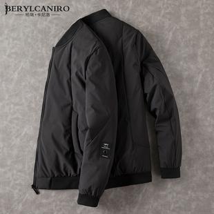 新款修身轻薄羽绒服男士短款外套青年帅气加厚保暖潮男装夹克冬季
