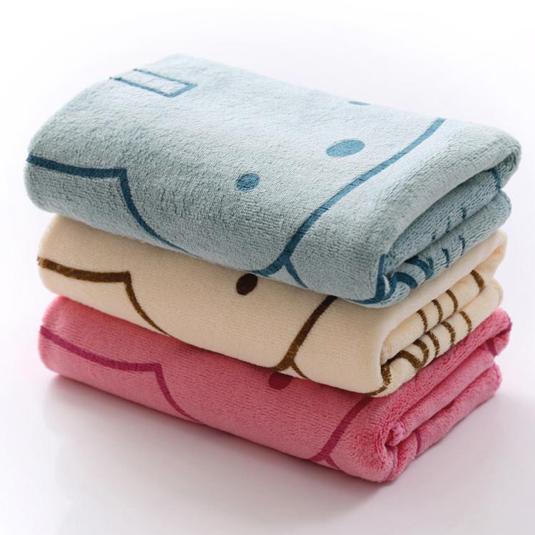 【手淘零元购专享】超细纤维毛巾卡通印花35*75cm柔软吸水儿童成