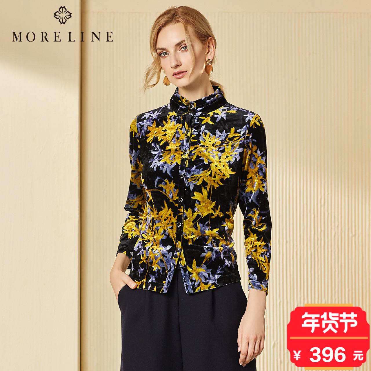 MORELINE沐兰秋冬新款丝绒外套气质优雅上衣1553801
