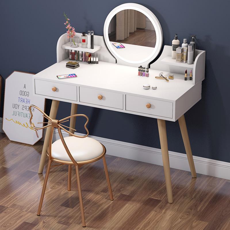 梳妆台小型现代简约收纳柜一体北欧化妆台网红化妆桌子卧室小户型