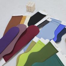 韩国春夏lu1堆堆袜女th日系天鹅绒中筒冰冰丝袜ins潮长袜子