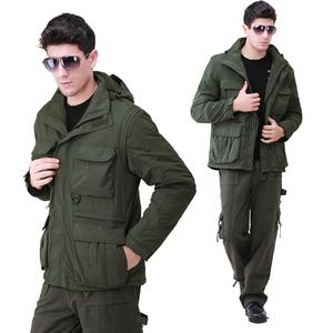 Army wild outdoor army fan clothing detachable sleeves men's windbreaker jacket windbreaker autumn and winter models