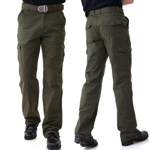 Army field line outdoor field army fan clothing men's loose army pants overalls plus fertilizer to increase climbing training pants