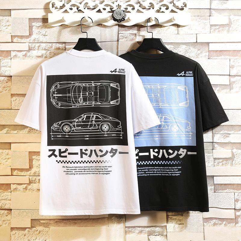 男装T恤2020夏季日系白墙挂拍H8006 -