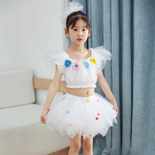 六一儿童节hn2出服饰蓬lk童跳舞蹈表演服装幼儿园主持公主裙