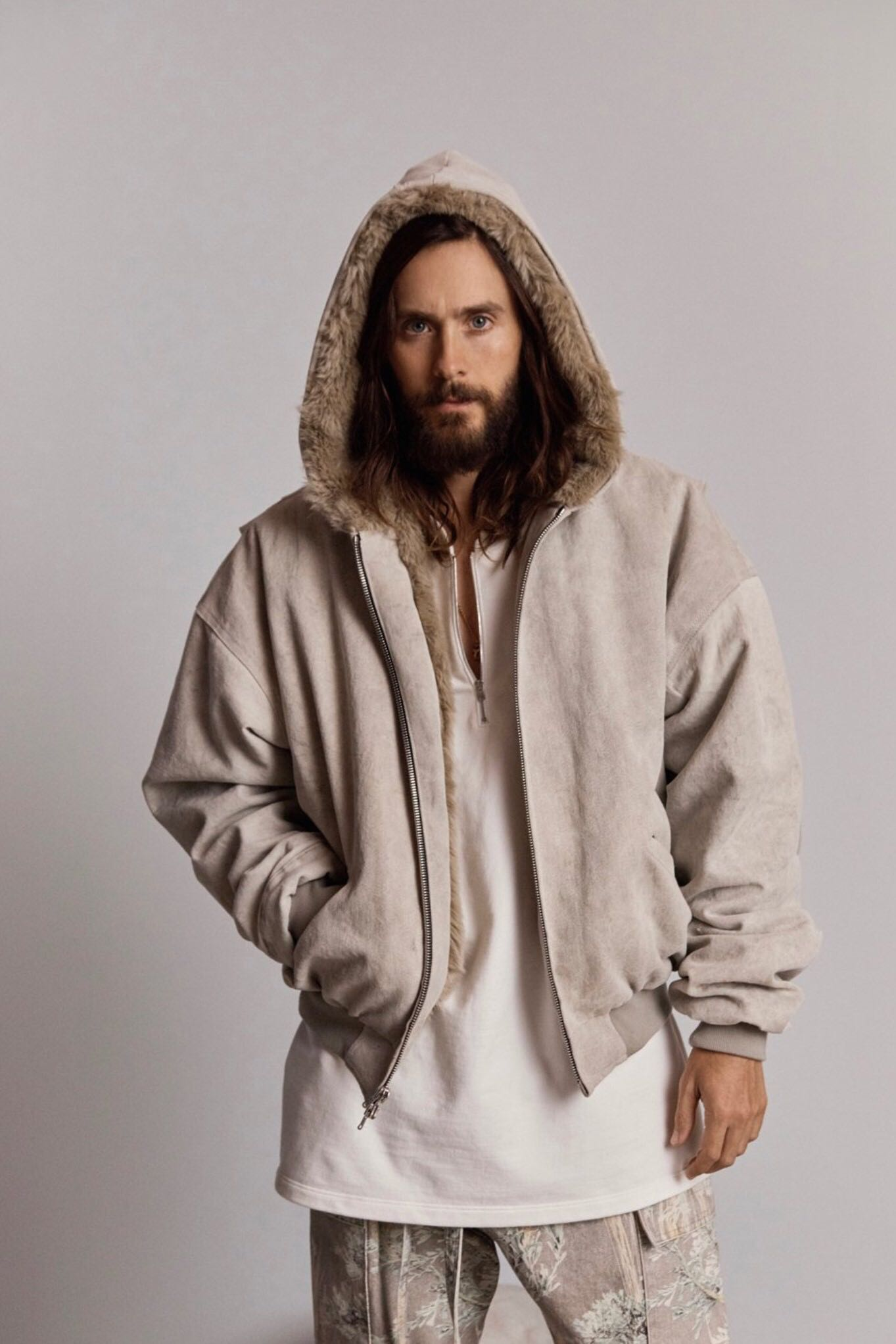 原创BB FOG 6th Fear of god 第六季 安哥拉兔毛 短款大衣外套帽