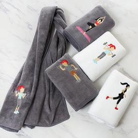 运动毛巾吸汗速干健身房瑜伽擦汗巾跑步加长比纯棉好定制绣字logo