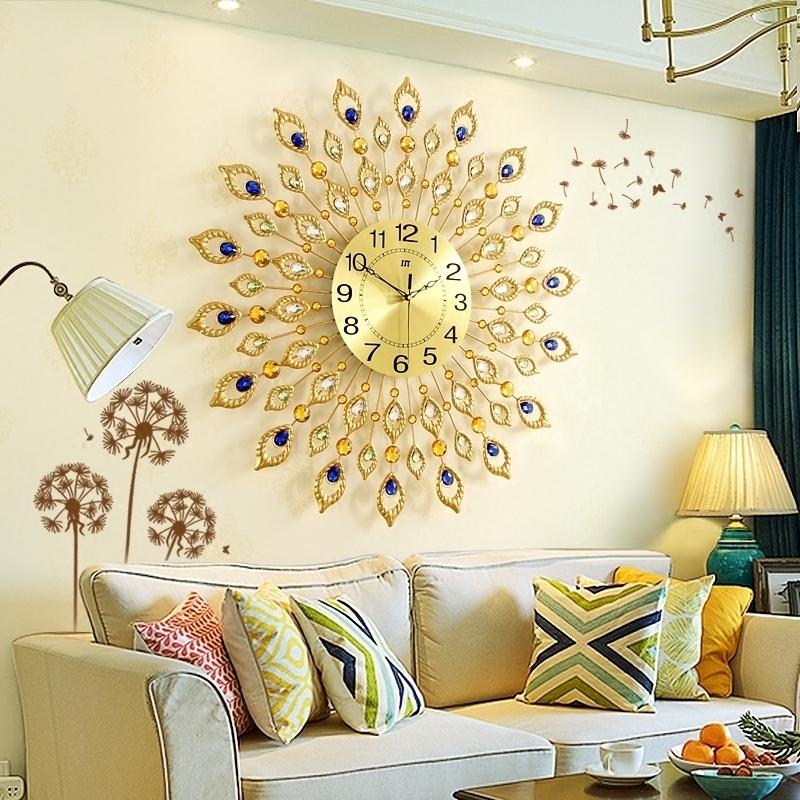 欧式钟表挂钟客厅家用时尚创意时钟个性艺术表大气现代简约石英钟