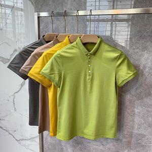 夏季韩国男装小领短袖修身POLO衫潮英伦韩版港风日系休闲保罗T恤