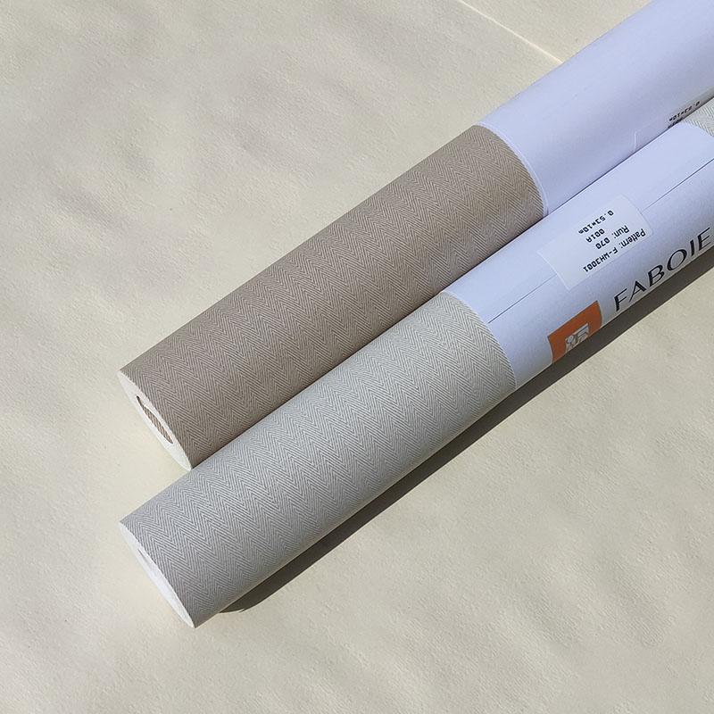 美国进口纯纸环保壁纸现代简约北欧风卧室客厅书房轻奢满铺墙纸