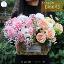 济南生日祝福开业向日ka7绣球玫瑰hy潍坊威海同城鲜花店送花