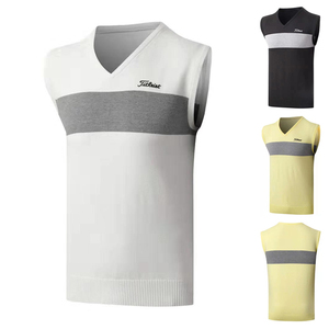 Autumn and winter golf clothing men's sweater vest slim bottoming wear sleeveless outdoor sports leisure tide shirt