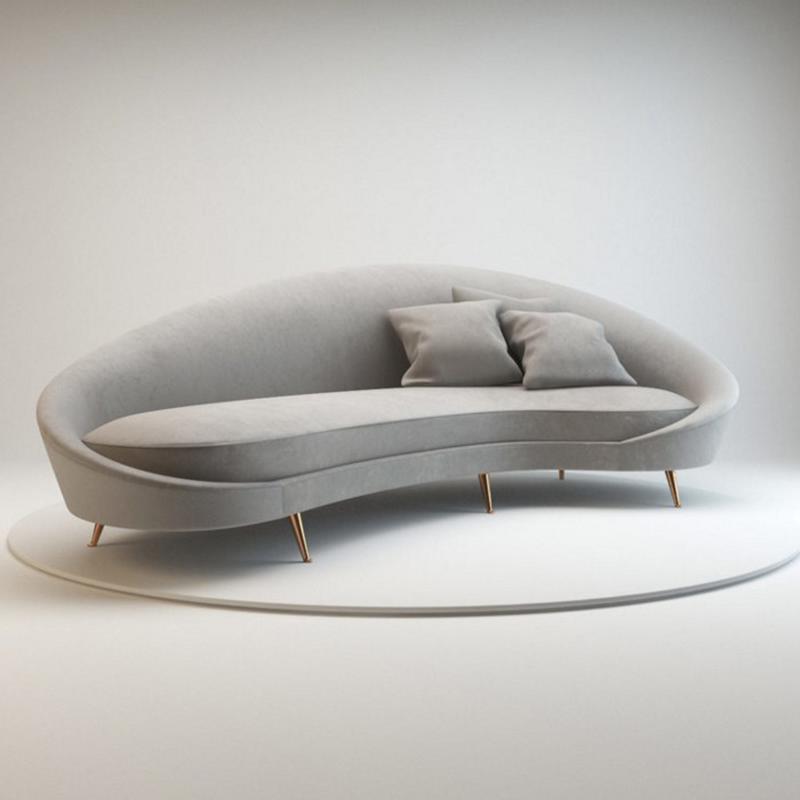 时尚北欧布艺沙发创意个性办公沙发现代简约会客接待异形组合定制