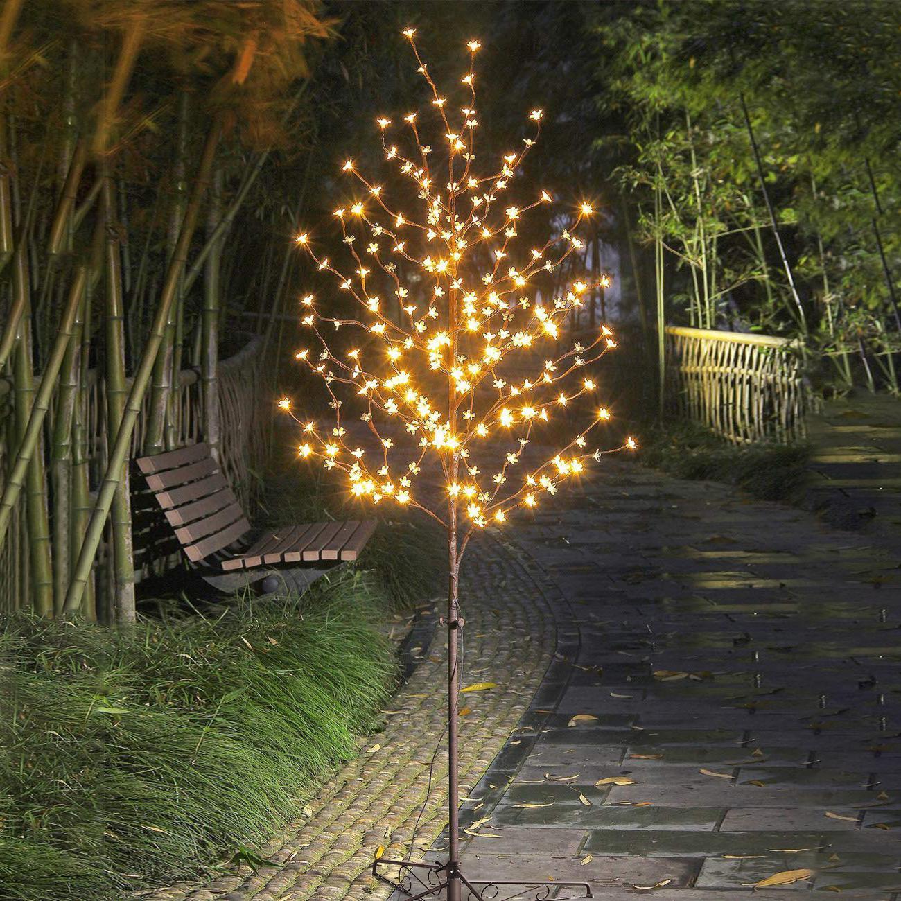 樱花树灯卧室装饰新年房间布置过年氛围灯家用树灯清吧店铺创意灯