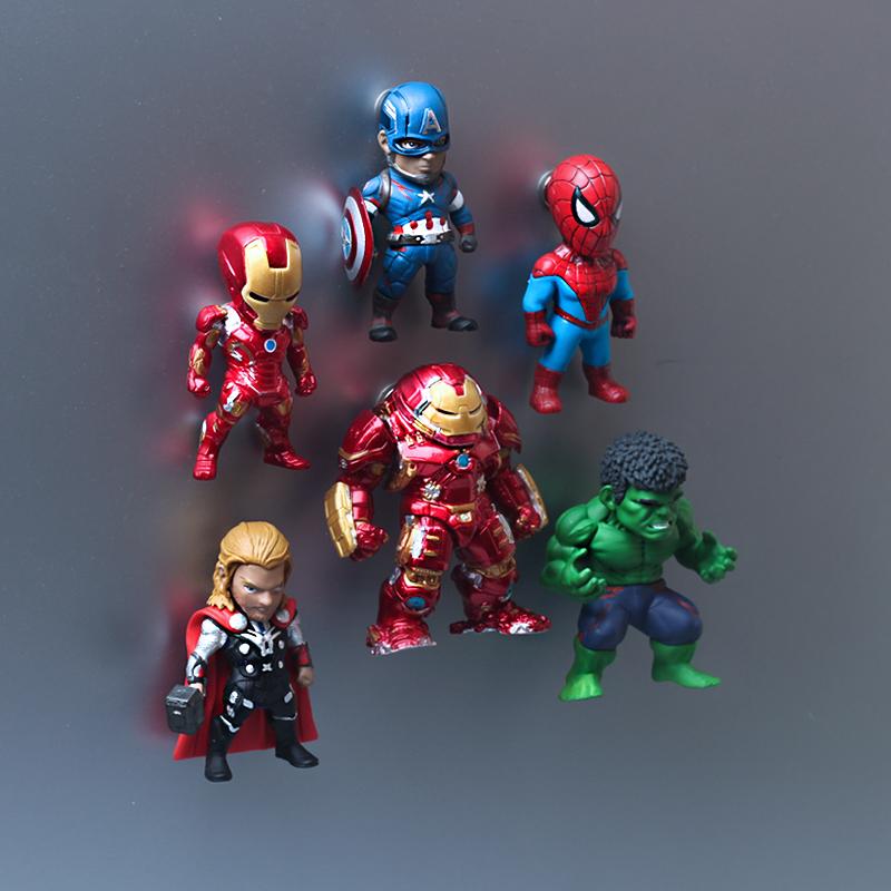 漫威新款冰箱贴装饰美国队长蜘蛛侠钢铁侠复联英雄磁贴男朋友礼物