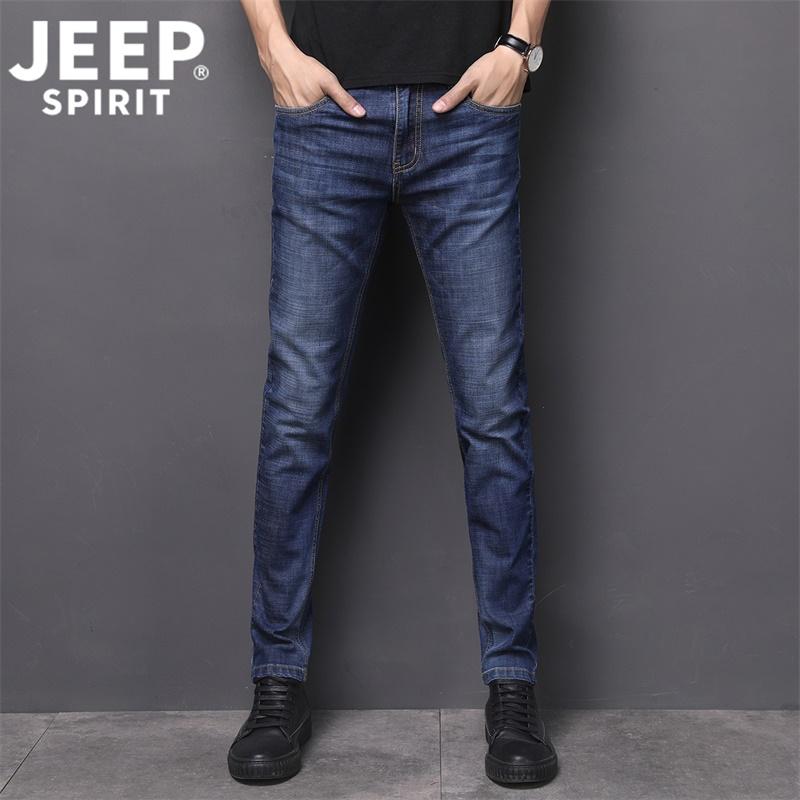 JP2015-P62 吉普JEEP弹力牛仔裤男修身直筒韩版潮流靓仔 黑色