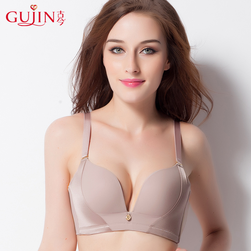 Underwear women's summer big breasts are small, no steel ring to receive vice breasts, ultra-thin models gather up the bra bra, anti-sag