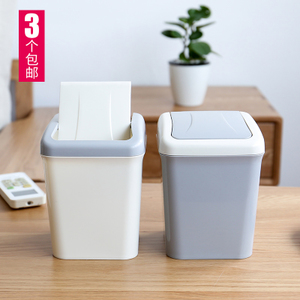 Garbage classification desktop trash can mini home office small bedside bedroom living room kitchen creative with lid