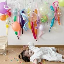 ins韩国魔术长条气球背景墙生日派la14布置装ll道具套装