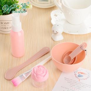文黛调面膜碗棒套装硅胶2件套DIY工具美容刷泡瓶量勺送压缩面膜纸