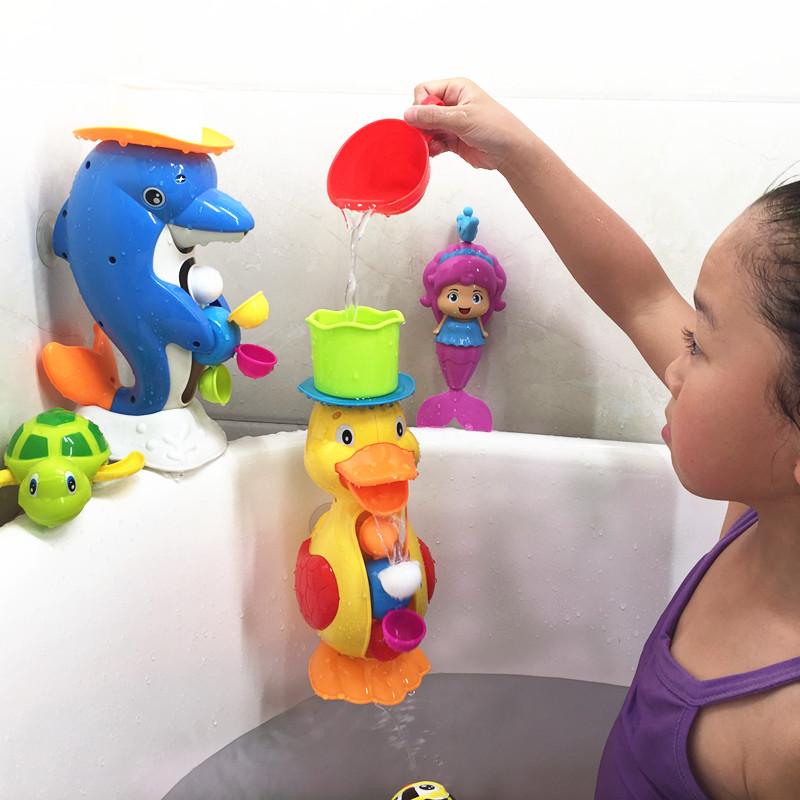 Children\'s baby bath toy cartoon submarine shower toy faucet ...
