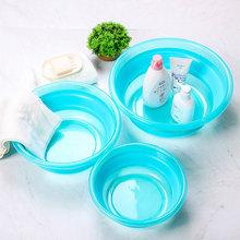 日本可折叠盆洗脸盆塑料家用泡脚7k12携式旅k8外水盆加厚
