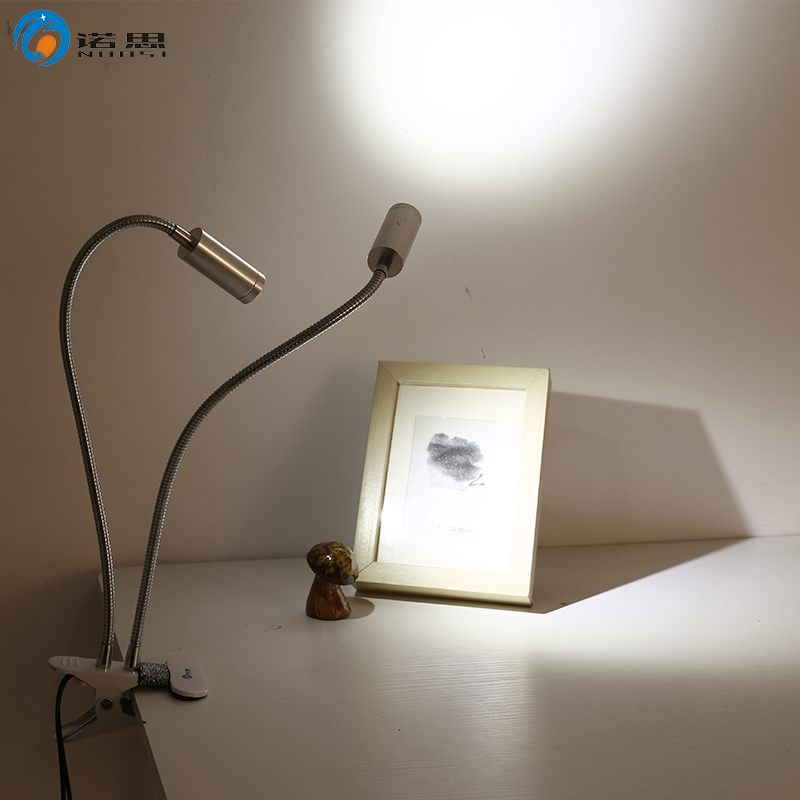 诺思led夹子台灯酷毙双头聚光夹灯USB迷你学生卧室床头化妆鱼缸灯-诺思LED灯饰
