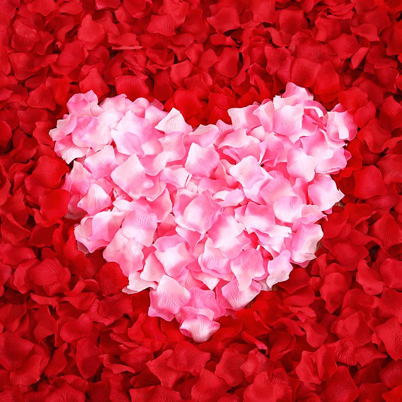 结婚婚庆用品制造浪漫假花瓣婚礼生日表白撒花婚房布置仿真玫瑰