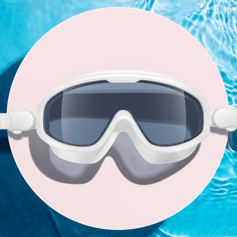 力酷大框泳镜近视高清防水防雾游泳眼镜男女护目儿童潜水镜装备