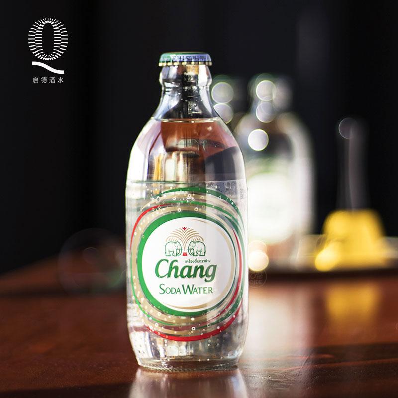 24瓶 泰国进口chang大象牌苏打水325ml 玻璃瓶装无糖气泡水饮料