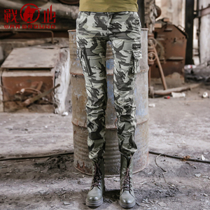 Battlefield Outdoor Thin Camo Casual Pants Multi Pocket Overalls Women's Autumn Tactical Trousers Army Fan Costume Pants