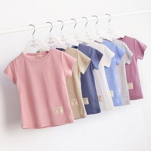 儿童圆领短袖T恤衫19夏童装男女中大童半袖打底衫潮婴儿宝宝上衣