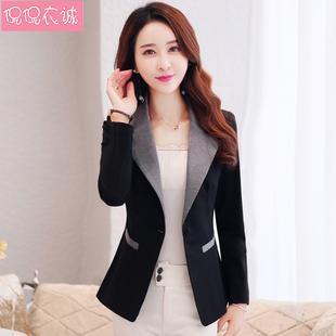 2020秋装新款长袖小西服女韩版修身休闲小个子西装女短款外套上衣图片