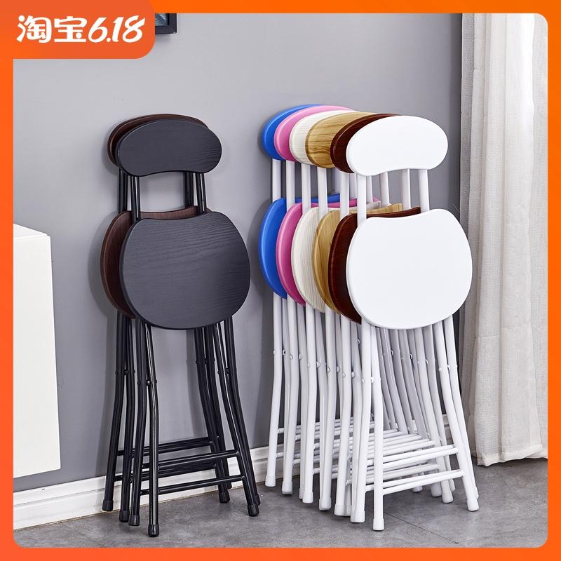 折叠椅子家用餐椅懒人便携休闲凳子靠背椅宿舍椅简约电脑椅折叠凳图片