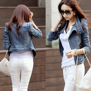 Winter Women Jeans Jackets Autumn Ladies Short Denim Coat