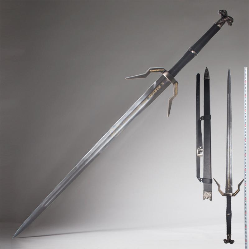 巫师3狂猎白狼钢剑利维亚杰洛特西洋剑cos游戏装备道具包邮未开刃