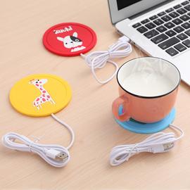 卡通创意usb硅胶保温杯垫加热杯垫恒温加热杯热奶器暖杯器保温碟