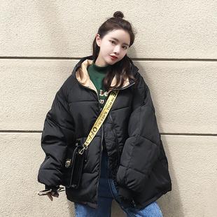 2018新款学生冬季东大门oversize面包服ins棉衣女短款bf外套chic