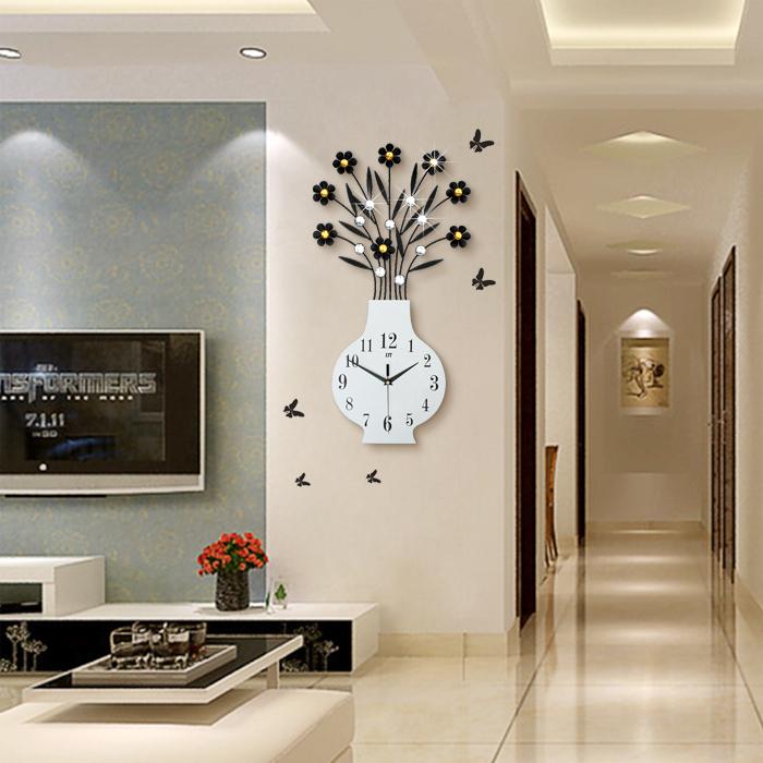挂表客厅家用钟表挂钟现代简约个性创意时尚潮流艺术时钟静音大气