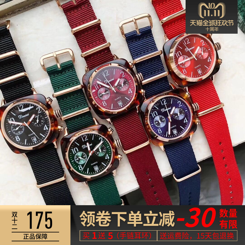 YJ2号抖音周冬雨同款手表蒂米妮女士手表防水时尚款女2018新款